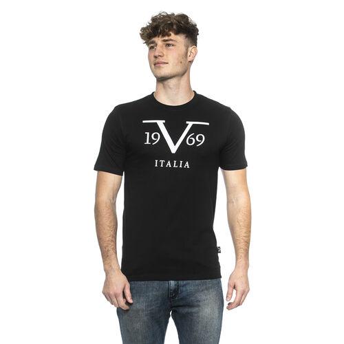 OTO - 19V69 ITALIA Short Sleeve Crew Neck Logo T Shirt (Size XL) -Blue/Navy
