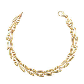 JCK Vegas Leaf Bracelet in 9K Yellow Gold 4.09 Grams 7.5 Inch