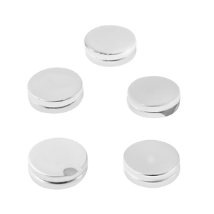 Set of 5 -  Magnetic Lock (12mm) in Silver Tone