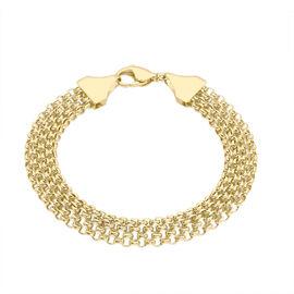 Italian Made 9K Yellow Gold Bismark Bracelet (Size 7.25), Gold 5.74 Gms.