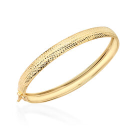 One Time Close Out Deal- 9K Yellow Gold Bangle (Size 7.5), Gold Wt. 5.50 Grams