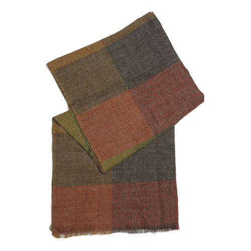 Multy Colour Checks Scarf (Size 180x70 Cm)