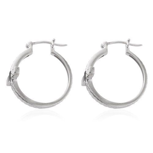Vicenza Collection - Designer Inspired Sterling Silver Hoop Earrings, Silver wt. 4.36 Gms.