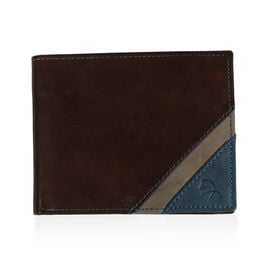Close Out Deal- 100% Genuine Leather Wallet- Brown and Jeans