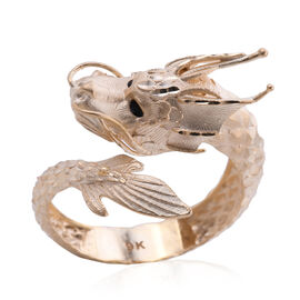 Designer Close Out - Royal Bali Collection 9K Yellow Gold Dragon Ring