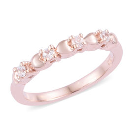 Natural Cambodian Zircon (Rnd) Ring in Rose Gold Overlay Sterling Silver 0.250 Ct.