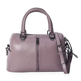 100% Genuine Leather Purple Colour Tote Bag with Removable Shoulder Strap (Size 31x14x19 Cm)