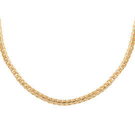 JCK Vegas Collection - Yellow Gold Overlay Sterling Silver Franco Round Chain (Size 22), Silver wt 3
