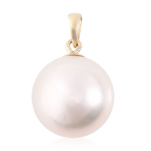 9K Yellow Gold White Edison Pearl Pendant