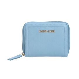 Union Code 100% Genuine Leather RFID Blue Wallet