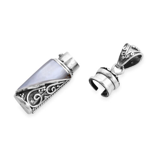 Royal Bali Collection - Mother of Pearl Love Potion Pendant in Sterling Silver, Silver wt 8.55 Gms