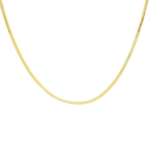 Italian Made 9K Yellow Gold Herringbone Necklace (Size 20)