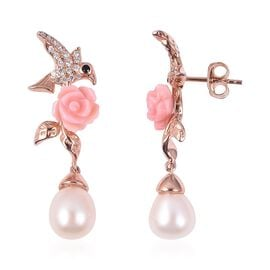Jardin Collection - Pink Mother of Pearl, Freshwater Pearl, Boi Ploi Black Spinel and Natural White