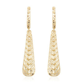 JCK Vegas Drop Earrings in 9K Gold 3.05 Grams