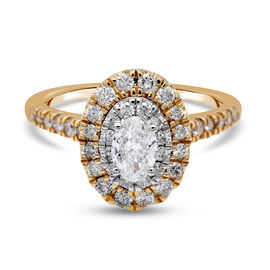 NY Close Out Deal- 14K Yellow Gold Diamond (I1-I2/G-H) Ring 1.00 Ct, Gold wt. 4.00 Gms