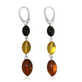 Tucson Collection-Baltic Amber (Fancy Shape) Lever Back Earrings in Sterling Silver 26.000 Ct.
