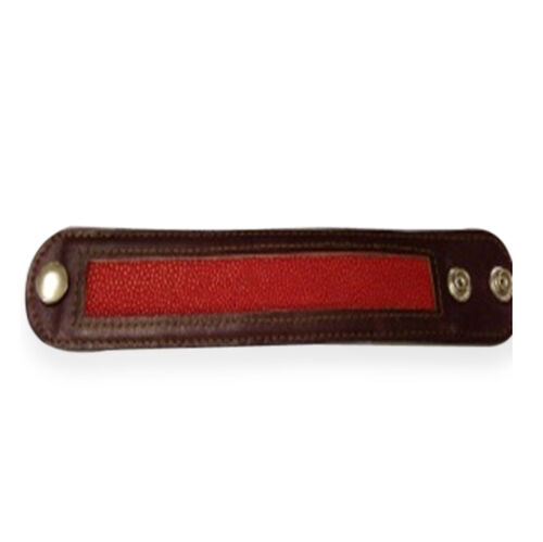 Brown and Red Stingray Leather Bangle (Size 8.5)