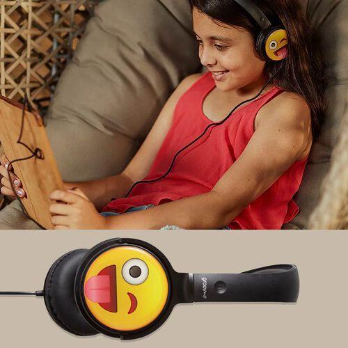 Groov-e EarMOJIs Stereo Headphones - Cheeky Face