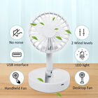Foldable and Adjustable Mini Fan with 2 Wind Speed Settings (Size:9x9x16cm) - White