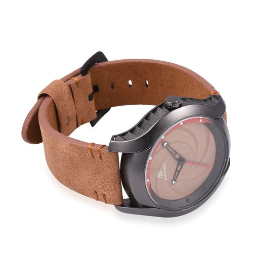 STRADA Japanese Movement Water Resistant Coffee Colour Dial Watch with Coffee Colour Strap