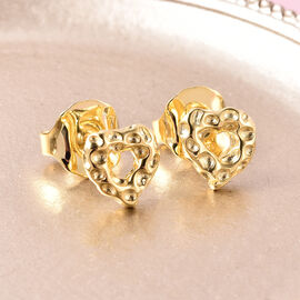 RACHEL GALLEY Yellow Gold Overlay Sterling Silver Heart Stud Earrings