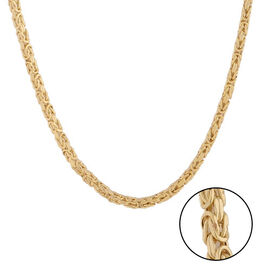 Italian Made - 9K Yellow Gold Byzantine Chain (Size 22), Gold Wt. 6.17 Gms