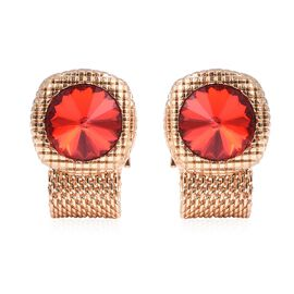 WILLIAM HUNT Simulated Ruby (Rnd) Cufflink in Gold Tone