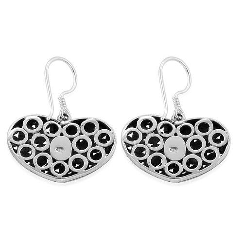 Designer Inspired - Sterling Silver Heart Earrings Silver Wt 6.09