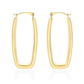 9K Yellow Gold Creole Earrings (with Clasp Lock)