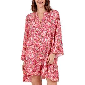 TAMSY Paisley Print Smock Dress (Size 60x86cm) - Pink
