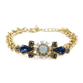 Designer Inspired- Bracelet (Size 7.5 with 2 inch Extender) in Yellow Gold Tone