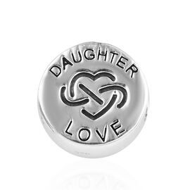 Charmes De Memoire Daughter Charm in Platinum Plated Sterling Silver 3.31 Grams