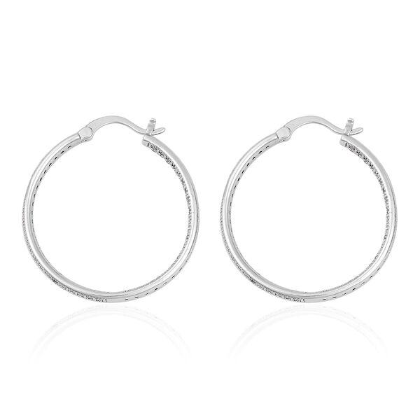 Simulated Diamond (Rnd) Hoop Earrings (with Clasp)