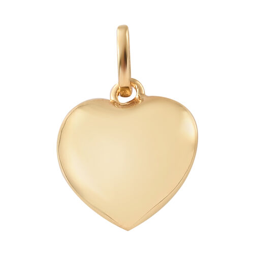 Set of 2 Ethiopian Welo Opal (Rnd) Heart Pendant in 14K Gold Overlay Sterling Silver 1.250 Ct.
