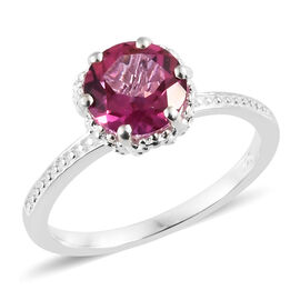 Mystic Pink Coated Topaz (Rnd) Solitaire Ring in Sterling Silver 1.500 Ct