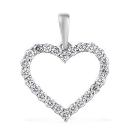 RHAPSODY 0.50 Ct Diamond Open Heart Pendant in 950 Platinum IGI Certified VS EF