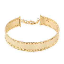 Designer Inspired - 9K Yellow Gold Diamond Cut Bangle (Size 7 with 1 inch Extender), Gold Wt 10.30 Gms
