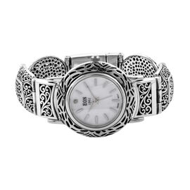 Royal Bali Collection EON 1962 Swiss Movement Water Resistant Scroll Work Watch (Size 6.5) in Sterli