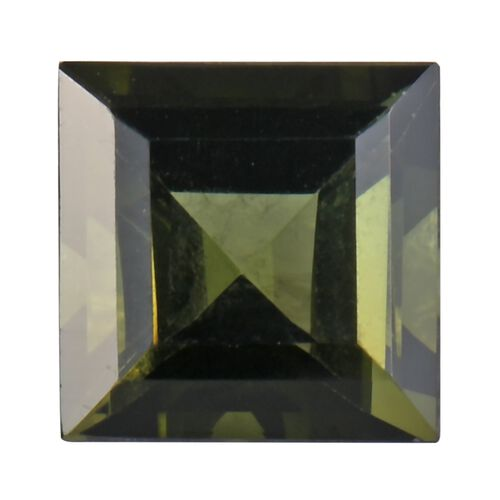 AA Green Tourmaline Square 7 Faceted 1.41 Cts