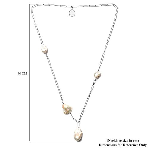 Sundays Child - Freshwater Pearl Necklace (Size 31) with Charm in Sterling Silver