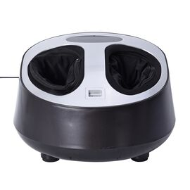 Multi-Functional Shiatsu Home Foot Massager with LED Display - Grey and Black