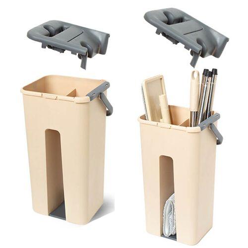 Davis & Grant Flat Mop with Dual Bucket - 2 heads - Khaki