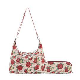 Signare Tapestry Frida Kahlo Rose Collection - Slouch Floral Shoulder Bag (32x31x26cm)