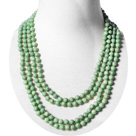 Green Howlite (Rnd 7-9 mm) Endless Necklace (Size 100) 831.00 Ct.