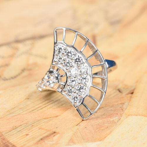 J Francis Sterling Silver Ring Made with SWAROVSKI ZIRCONIA