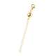 Magnetic Ball Clasp with 2 Inch Extender in Gold Plated Silver