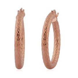 Rose Gold Overlay Sterling Silver Hoop Earrings