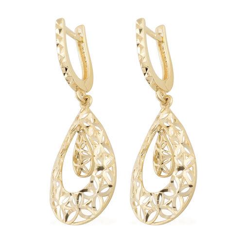 JCK Vegas Collection - 9K Yellow Gold Diamond Cut Drop Earrings Gold Wt 2.50 Grams