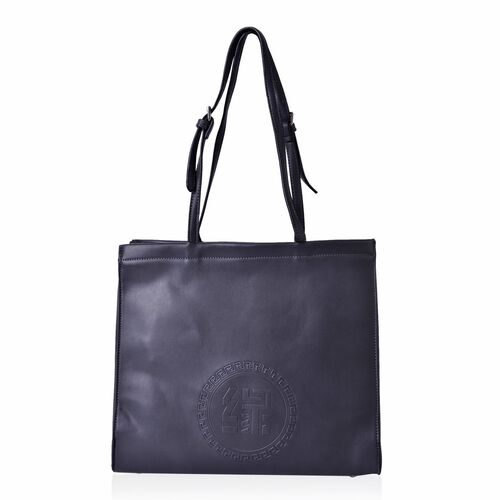 YUAN COLLECTION Classic Grey Carryall Tote Bag (Size 33.5x29x11 Cm)