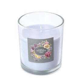 Aromatic Candle and Glass Container (Size 7.5x6.5 Cm) with Gift Box (Cassis and Lily Blossom Fragran